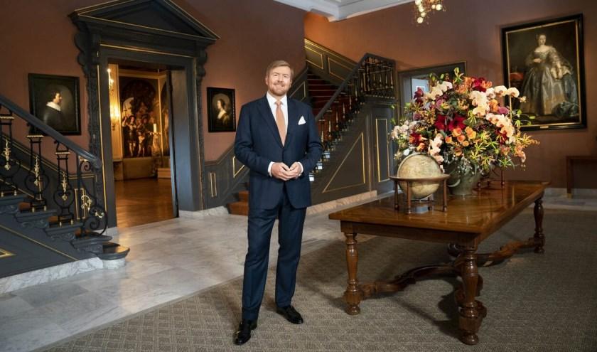 Archieffoto: Koning Willem-Alexander spreekt de Kersttoespraak uit vanuit Paleis Huis ten Bosch.