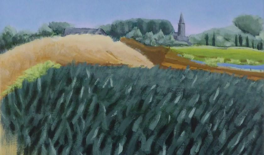 Zicht op Doesburg, 2019, 40 x 50 cm