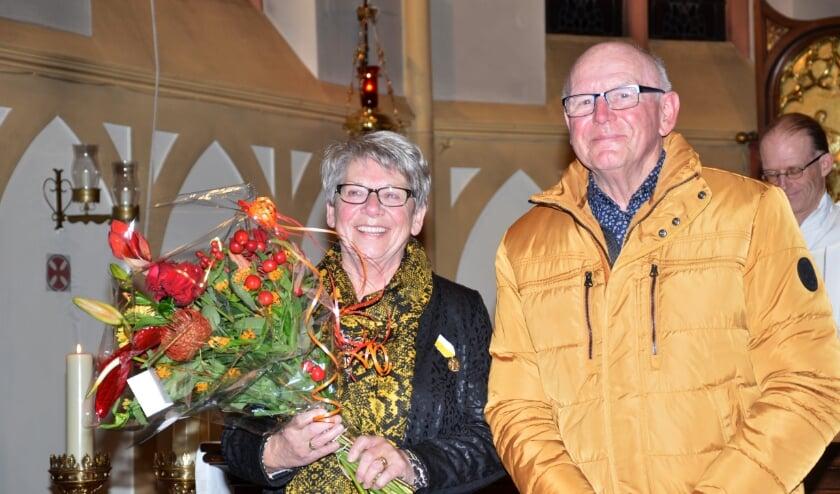 Toos met echtgenoot en pastoor Marcel Smits
