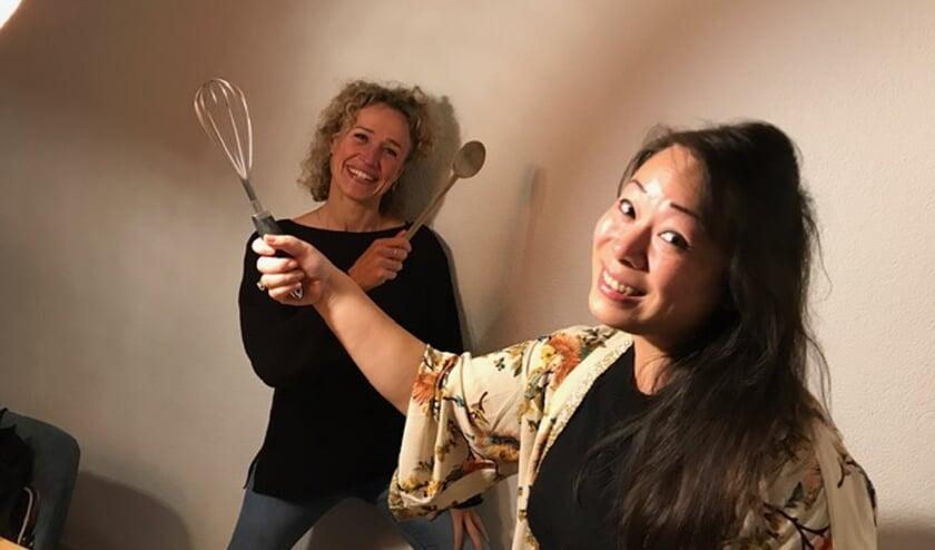 Christa Verploegh en Lulu Hsu