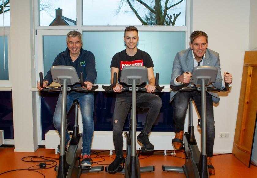 Leo van Kuppenveld, Quinten de Boeuf en Stephan Sluijmers (vlnr) geven het goede voorbeeld.