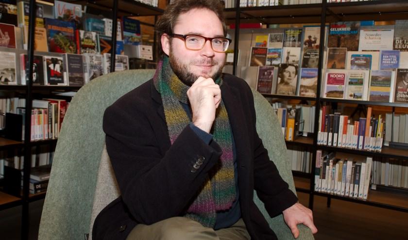 Stadsdichter Robin Bleeker is burgemeester van de Boekenweek. (foto Gert Perdon)