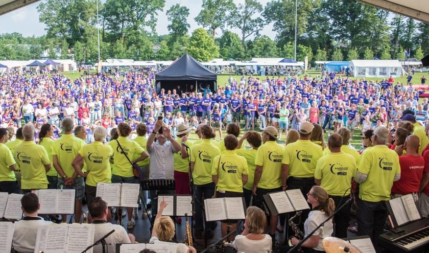 Op vrijdag 12 juni start in het Van Meurspark in Heerde de SamenLoop voor Hoop.  (foto: Benno Wonink)