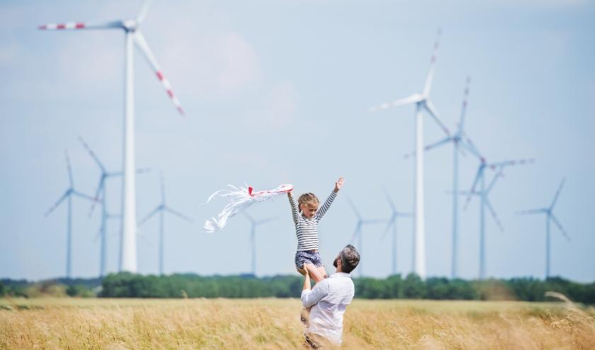 Grootschalige opwek van groene energie in het buitengebied.