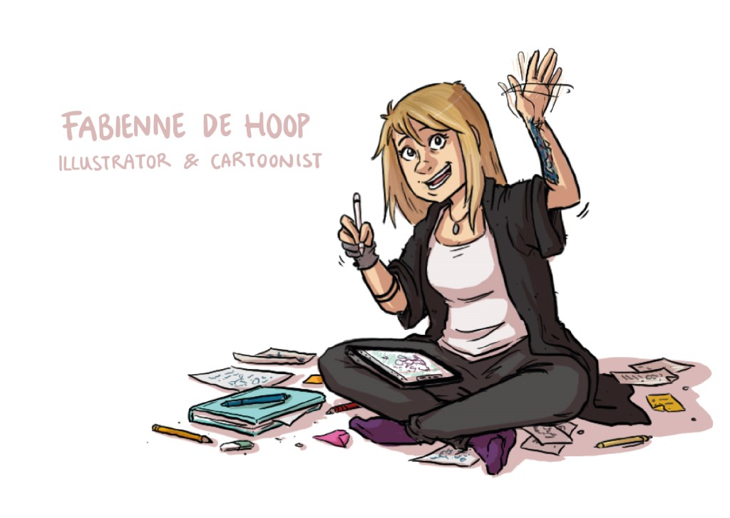 Illustrator/cartoonist Fabienne de Hoop stelt samenwerking voorop.   © Groeiend Best