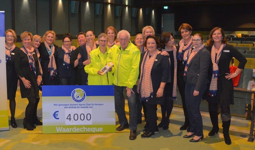 Donderdag 23 januari organiseerde Agora Club De Kempen een filmavond voor het goede doel Stichting WensAmbulance Brabant. FOTO: Agora.