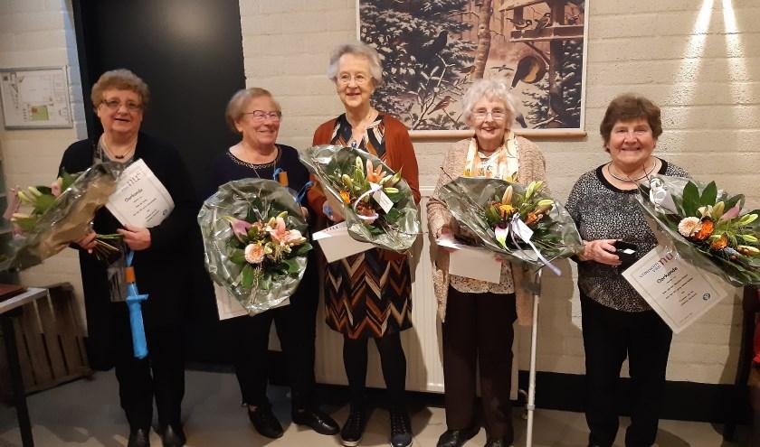 jubilarissen Vrouwen van Nu Afdeling Herwijnen