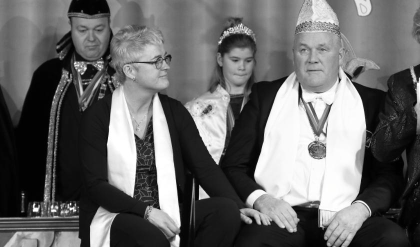 Andre Bussink (rechts), met naast hem zijn vrouw Simone Bussink.