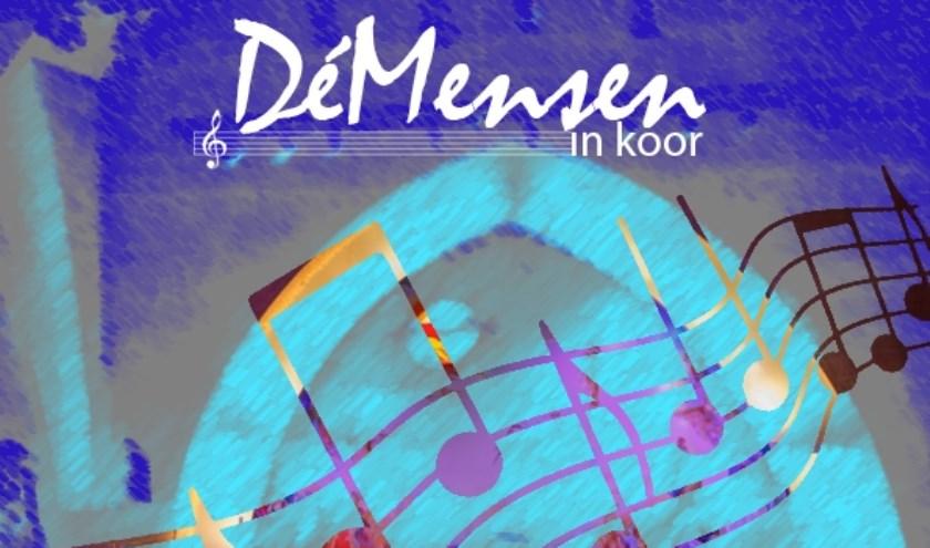 flyer DéMensen in koor