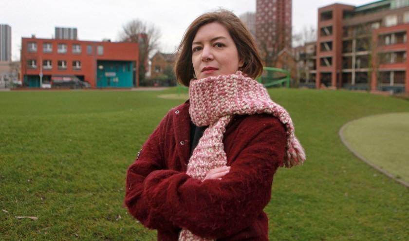 Lesley Arp, fractievoorzitter van de SP in Den Haag, strijdt voor de rechten van medewerkers in de thuiszorg (Foto: Peter van Zetten).