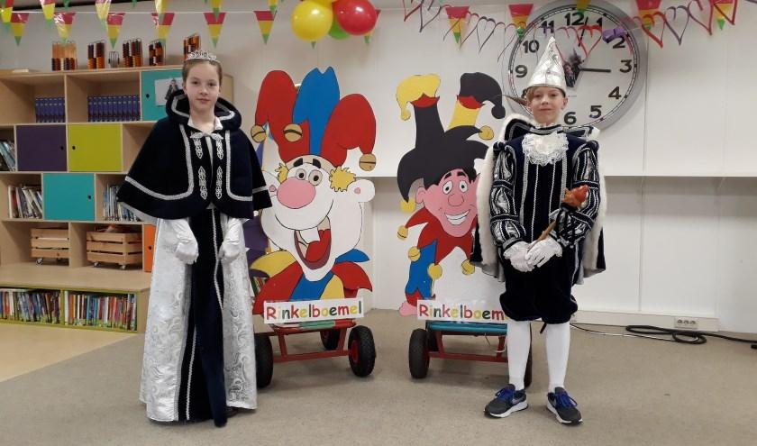 IKC de Tamboerijn uit Zevenaar viert carnaval met Prinses Vere en Prins Tijs. (foto: Tessa Groenen)