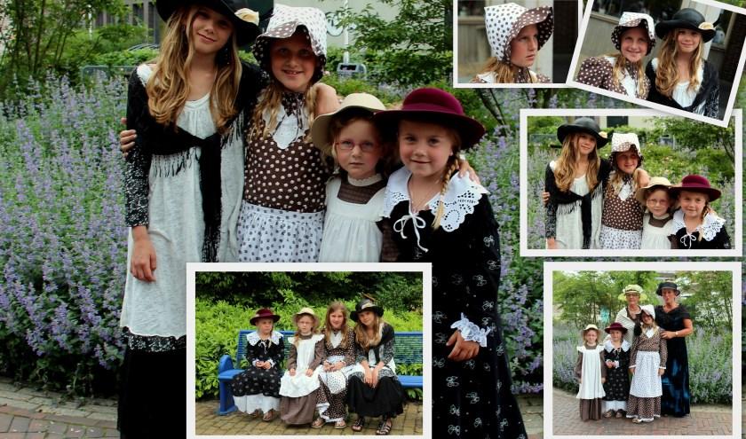 Ook kinderen mogen meedoen aan de modeshow of zich na de show laten aankleden in oud-Hollandse stijl.