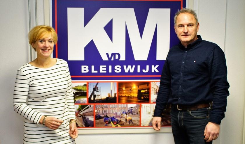 Nicole Hofland (On Stage) en Kees van der Meer (KvdM), een van de vaste deelnemers aan Zoetermeer On Stage. Foto: Robbert Roos