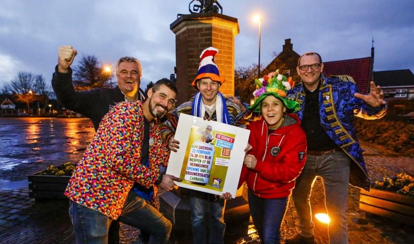 De stichting die verantwoordelijk is voor de opening van het Brouwersgatse carnaval. Een strippenkaart voor volwassenen kost 11 euro, er zijn speciale strippenkaarten voor kinderen. Foto: Jurgen van Hoof
