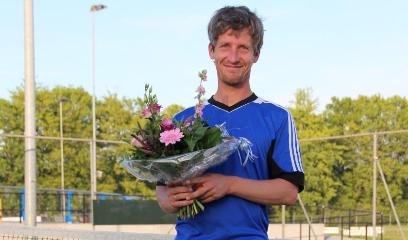 Tennisleraar Gertjan Oostendorp.