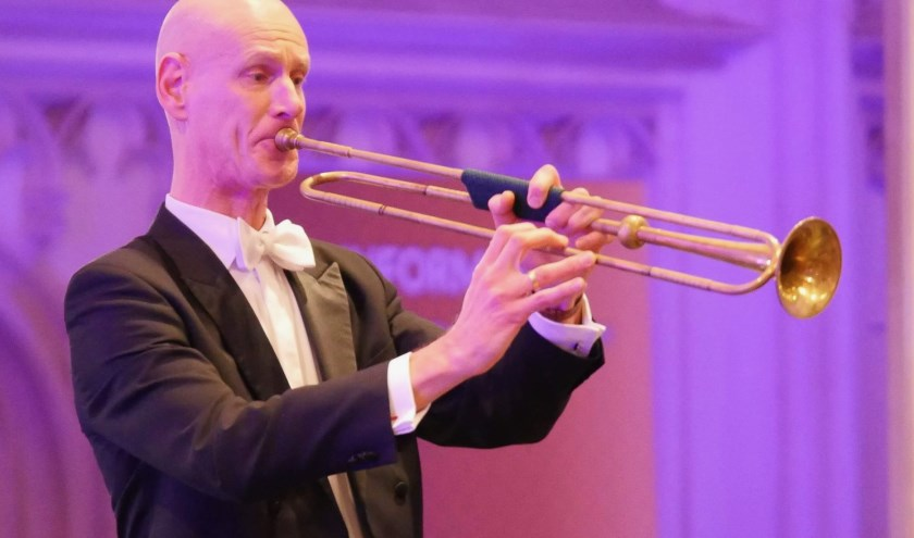 Tijdens het concert van het Alexanderconsort zal Frank Anepool de baroktrompet virtuoos laten schallen in een feestelijk werk van Telemann