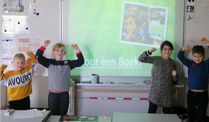 Aftrap van 'Scoor een Boek!' in groep 5 van basisschool De Oersprong.