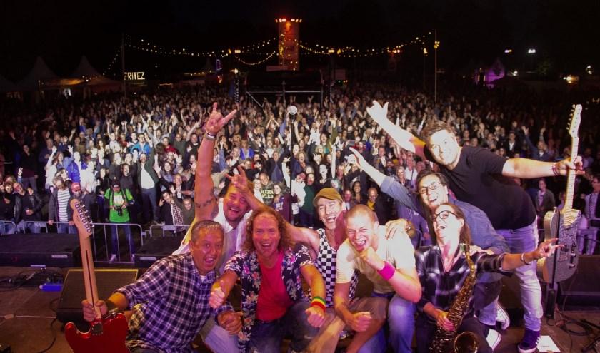 De band Doe Maar een liedje bij een eerder optreden. (Foto: Richard Sloot)