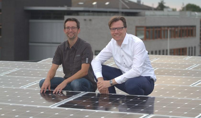 De oprichters van Fruitstad Energie, Marcel Ridder en Pieter Mels