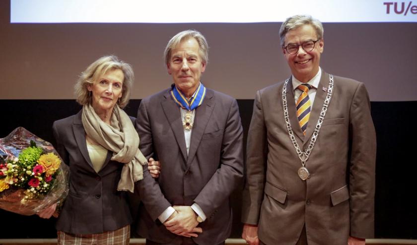 Prof. dr. E. Meijer en burgemeester Jan Brenninkmeijer. Foto: Jurgen van Hoof M54 Beeldcreaties.