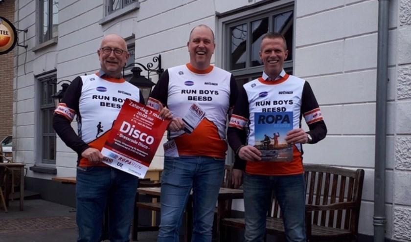 De organisatie is in handen van een kernteam, hier vertegenwoordigd door Jasper van Hoeven, Patrick Kemker en Cor van Weenen (vlnr)