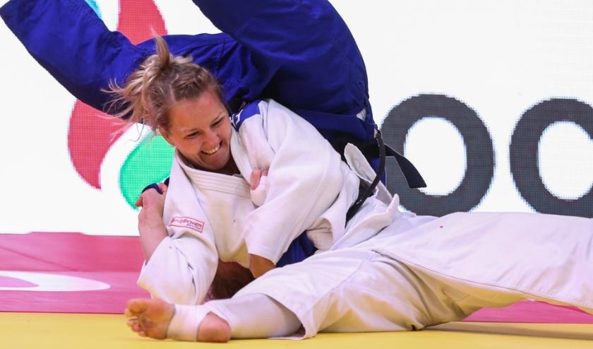Juul Franssen won vorig jaar brons in Baku door waza-ari tegen landgenote Sanne Vermeer. (Foto: Emanuele Di Felicioantonio/IJF)