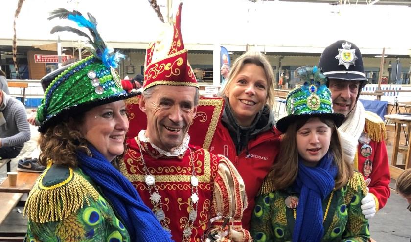 Prins Amphoor met oud-wereldkampioen Annamarie Thomas bij de Lions.