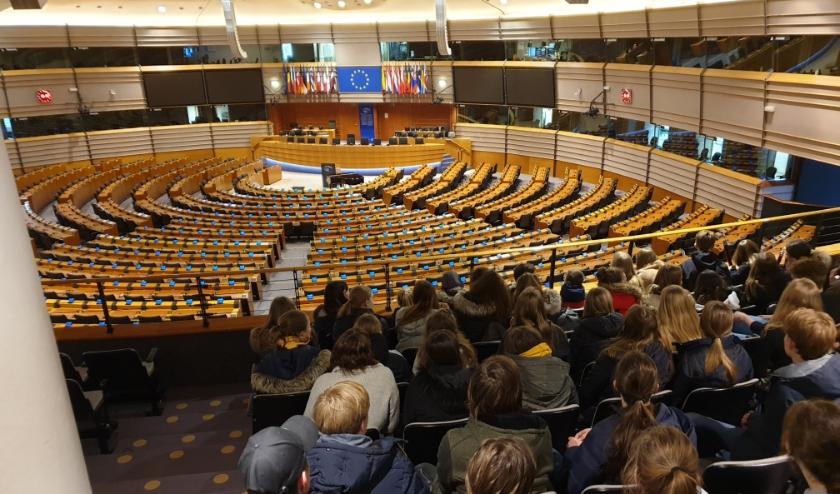 Bezoek aan het Europees Parlement in Brussel.