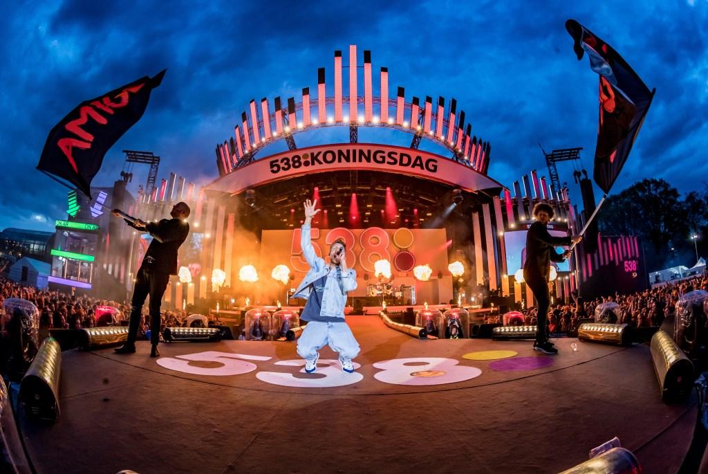 Chef'Special op 538 Koningsdag in 2019. Foto: Radio 538 © DPG Media