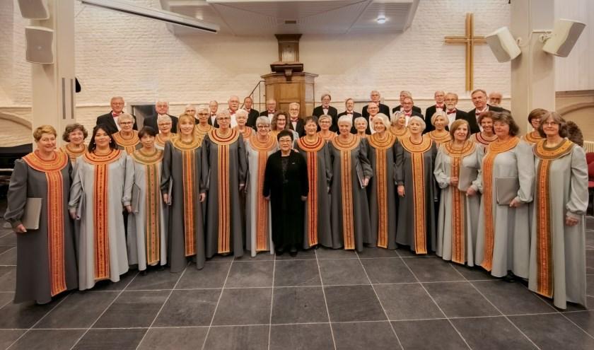 Het Zeeuws Byzantijns Koor Srétenieje treedt op in Middelburg. FOTO: PR