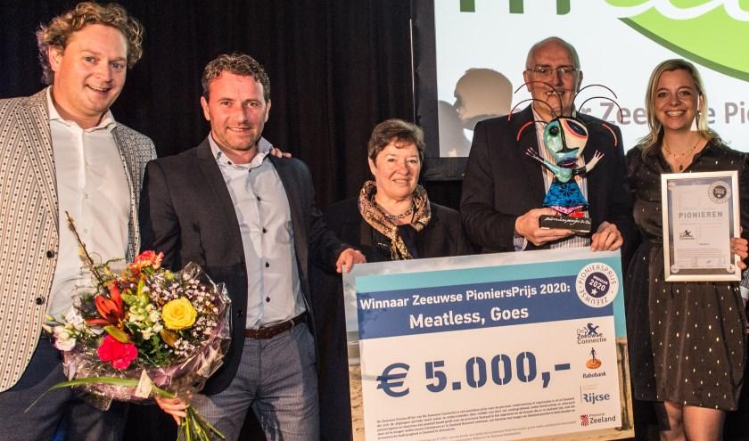 Meatless uit Goes heeft dit jaar de Zeeuwse PioniersPrijs gewonnen. FOTO: Mieke Wijnen Fotografie