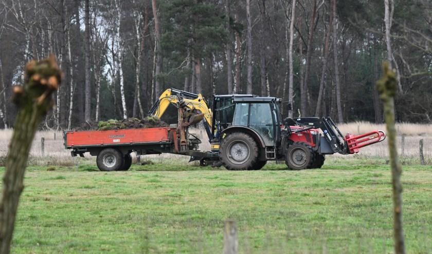 Werk in uitvoering op landgoed Wellenseind in Lage Mierde.