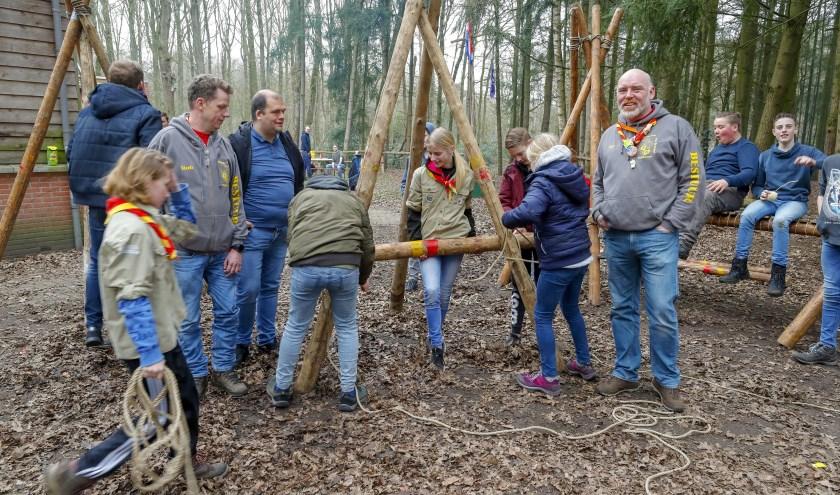 Scouting Hertog Jan van Brabant bestaat 60 jaar in 2020. Zaterdag 18 april vindt een grote reünie plaats. FOTO: Bert Jansen.