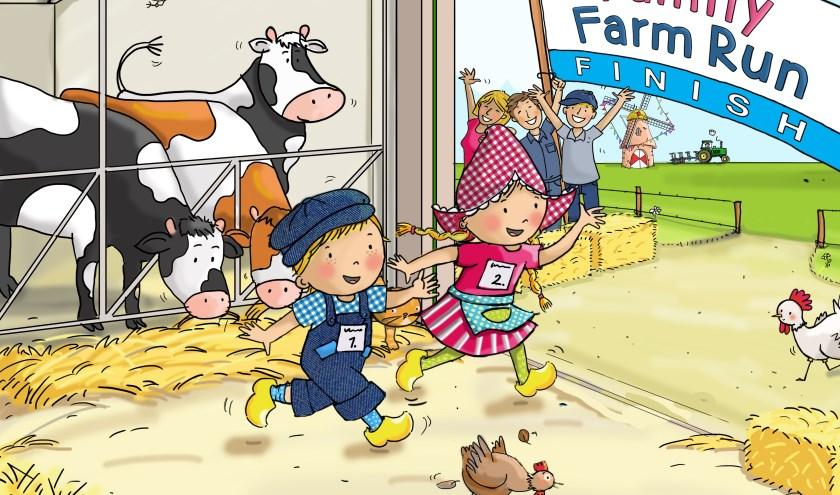 De allereerste Family Farm Run wordt gehouden op zaterdag 4 juli in Avonturenboerderij Molenwaard. (Foto: pr)