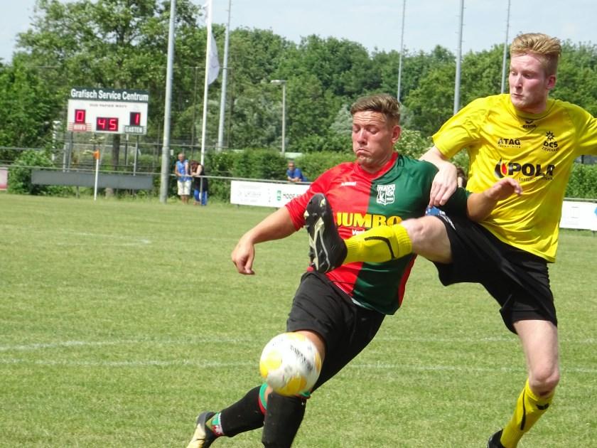 WAVV speelde in eigen huis met 2-2 gelijk tegen UNION. Kevin van Woerkom (links op archieffoto) opende voor de ploeg uit Wageningen de score.