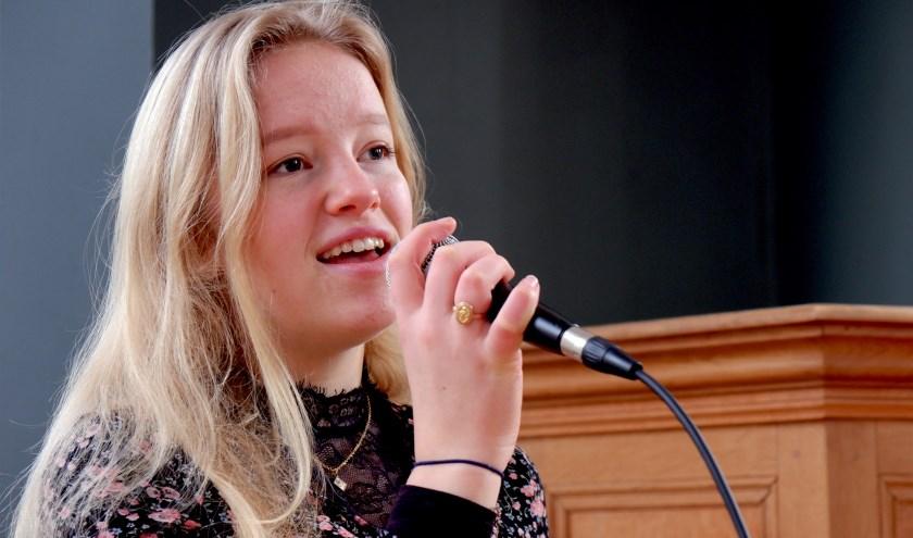 Op 23 februari treedt Ana Holwerda op met The Zimmies in de Culemborgse synagoge. (foto: Harmen Holwerda)