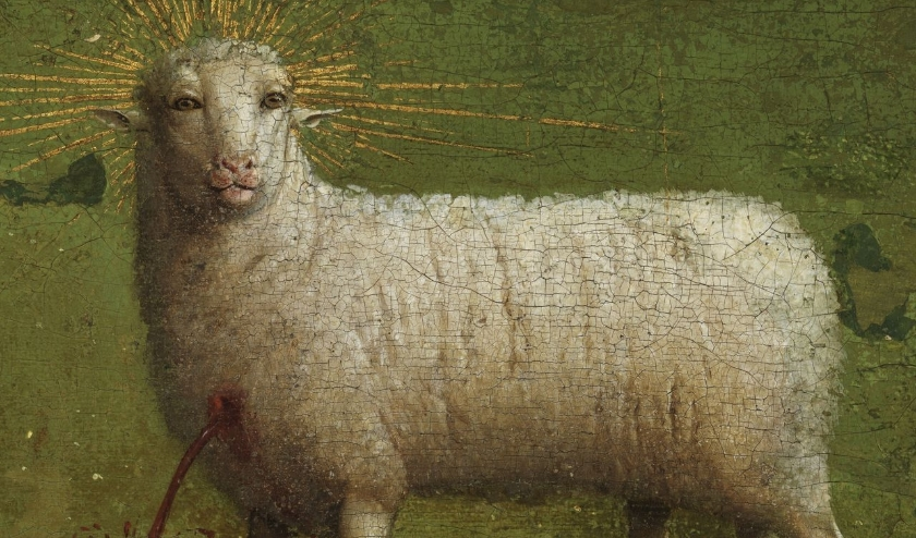 Hat Lam Gods uit altaarstuk gebr.Van Eyck