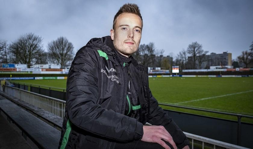 Jerry Scholman, bezig aan zijn laatste maanden als actief voetballer.