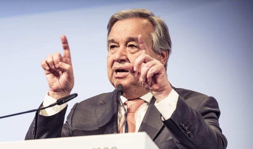 António Guterre ontvangt eerdaags in Middelburg namens de Verenigde Naties de Four Freedoms Award. FOTO: PR