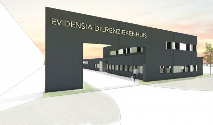 Impressie ontwerp dierenziekenhuis.