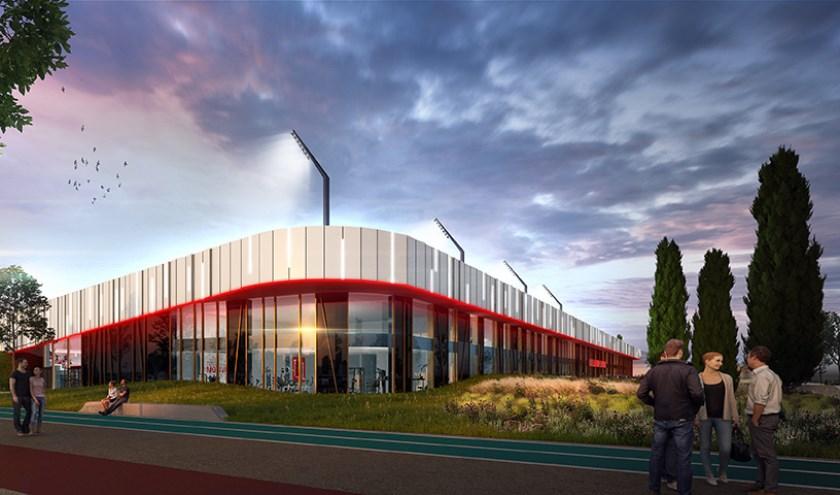 Het voorlopige ontwerp van Sportcampus de Braak. Foto: MoederscheimMoonen Architects,+ FaulknerBrowns Architects,+ CULD