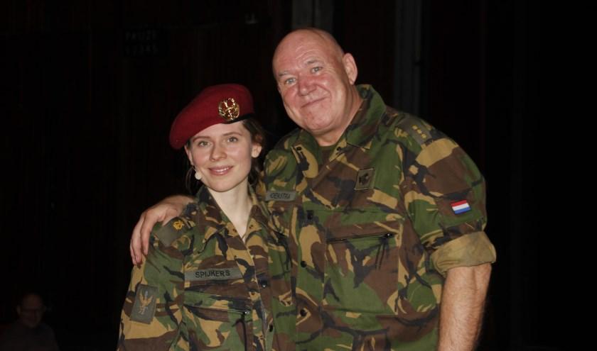 De Regimentsfanfare Garde Grenadiers en Jagers uit Den Haag kwamen met de voorstelling Vrij Land