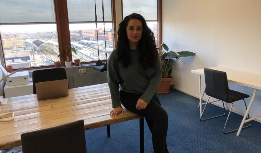Meena Rahmani als studiebegeleider bij Het Lyceum Zwolle