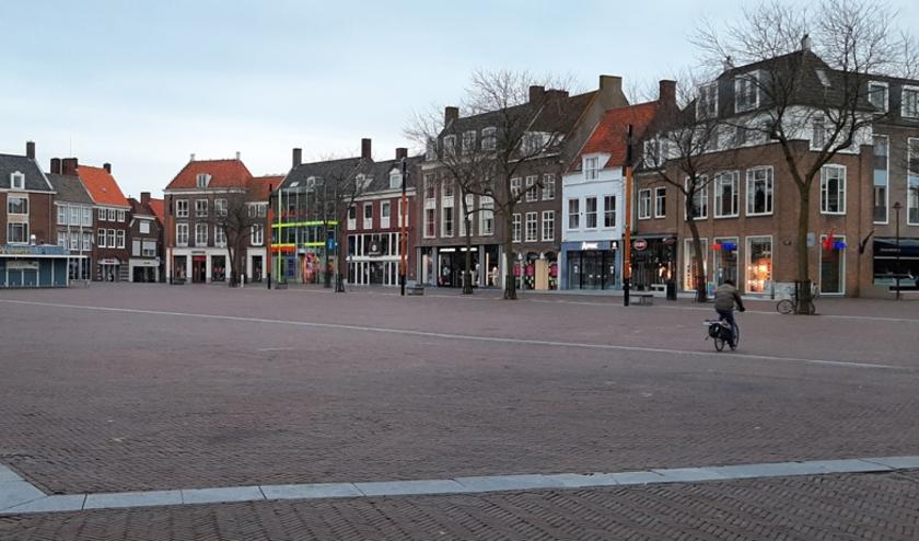 Lege winkelstraat in Middelburg. FOTO:  (c)Dockwize