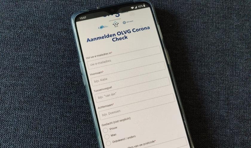Het UMC Utrecht lanceert de OLVG corona check app voor inwoners van de provincie Utrecht.