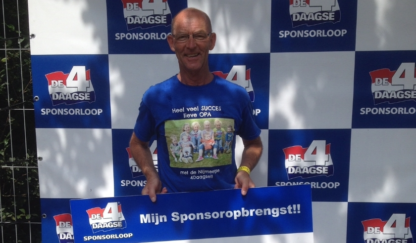 Dick Derksen, sponsorloop 4daagse 2019