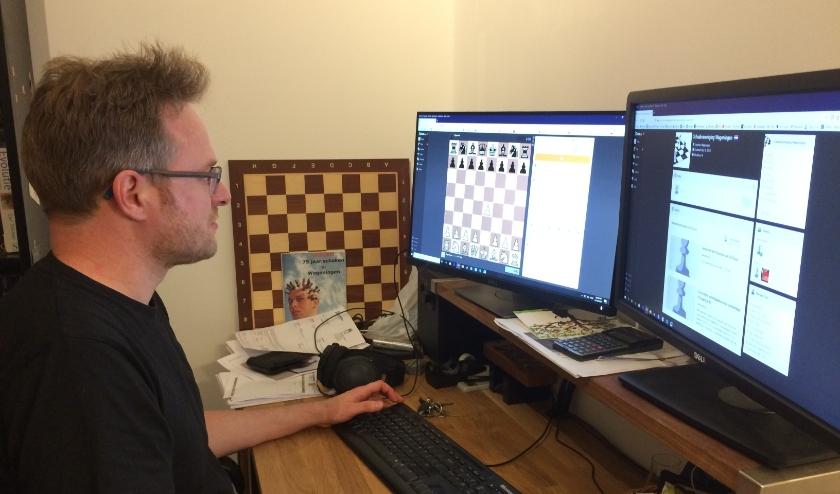 Joost Hooghiemstra heeft voor de Wageningse schakers een toernooi op chess.com georganiseerd.