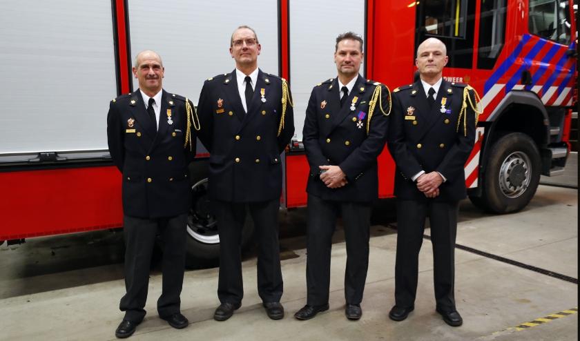 Van links naar rechts: Jaap Koole, Rob Terpstra, Marc van Erp en Theo Kapteijns.