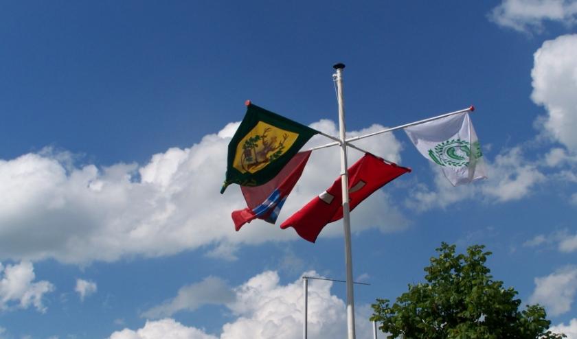Vlaggen van de drie Ulftse Schutterijen