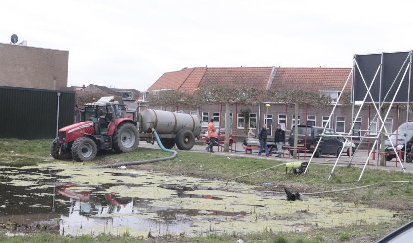 De voorbereidende werkzaamheden vinden paats voor de bouw van appartementencomplex De Molenaar aan Het Jach